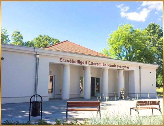 Erzsébetligeti Étterem és Rendezvényház kívülről, Budapesti esküvő helyszín